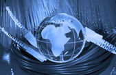 Technology earth globe — Stock Photo