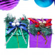 Christmas decoration present box — Stock Photo