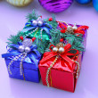 Stock Photo: Christmas decoration present box