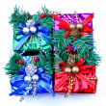 Christmas decoration present box — Stock Photo #2451913