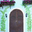 Door from a historic house — Stock Photo