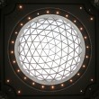 Glass dome of a modern business building — Stock Photo #2096183