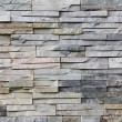 Slate Stone wall background, old facade - Stock Photo