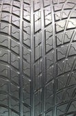 Closeup texture of a car tyre — Stock Photo