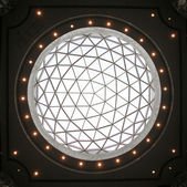 Glass dome of a modern business building — Stock Photo