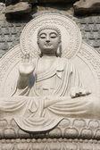 Stone Buddha Statue at temple in jinan, — Stock Photo