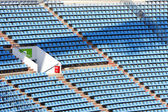 Plastic stadium seats — Stock Photo