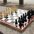 Chess board with chess figures ready to - Stock Photo