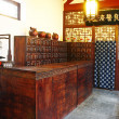 Very old chinese medicine shop in Jinan - Stock Photo
