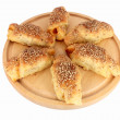 Fresh baked pastry with sesame seeds — Stock Photo #2125099