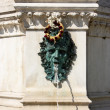 Little fountain near cathedral Zagreb — Stock Photo