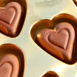 Stock Photo: Hearts of chocolate