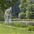 Sculpture of an angler — Stock Photo