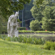 Stock Photo: Sculpture of angler