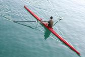Single rower — Stock Photo