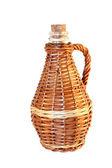Wattled wicker bottle — Stock Photo