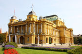 Croatian national theatre in Zagreb — Stock Photo