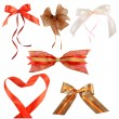 Collection of decorative bows — Stock Photo