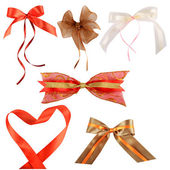Collection of decorative bows — Foto Stock