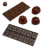 Collection of chocolate — Stock Photo
