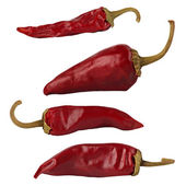 Collection of cayenne peppers — Foto Stock