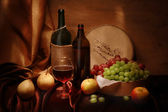 Wine and fruits — Stockfoto