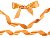 Collection of decorative bow and ribbons — Foto Stock