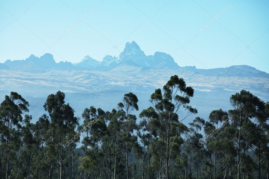 Mountain peak Kenya  Stock Photo #2099088
