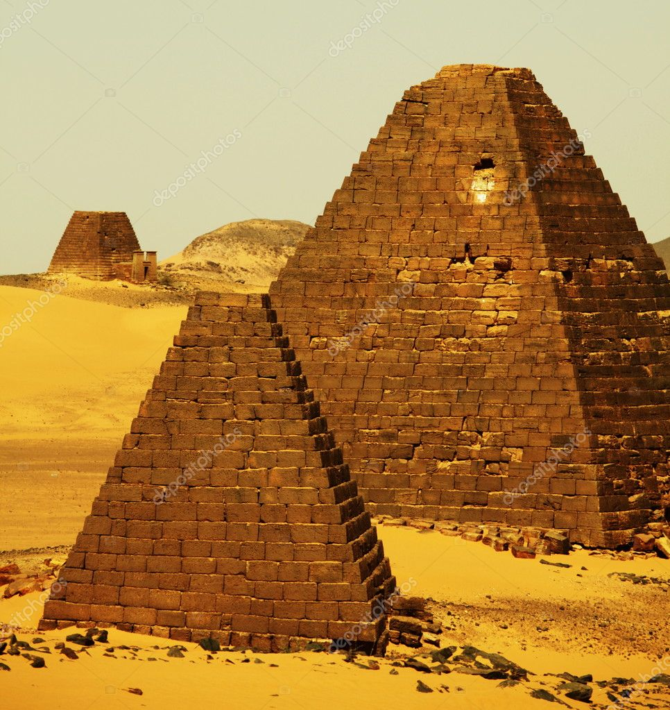 Meroe pyramids in Sudan — Stock Photo #2099152