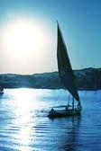 Nil'de tekne — Stok fotoğraf
