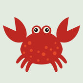 Vector red crab — Stock Vector