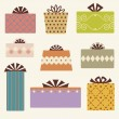 Royalty-Free Stock Vector Image: Vector gift box set