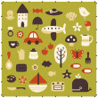 Vector cute elements - Stock Vector