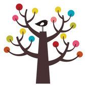 Bird and tree — Stock Vector