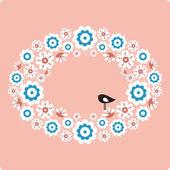 Cute bird design — Stock Vector