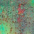 Old decayed paint on rust metal - Stock Photo