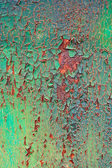 Old decayed paint on rust metal — Stock Photo