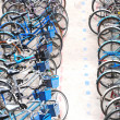 Stockfoto: Bike parking in big city