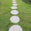 Stock Photo: Curving stepping stone footpath