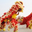 Chinese people playing lion dance celebrating the coming new year. — Stock Photo #2316318