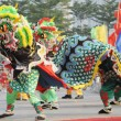 Chinese playing lion dance — Stock Photo #2316834