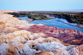 The Yardang landform — Stock Photo