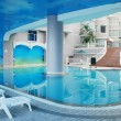 The indoor swimming pool - Stock Photo