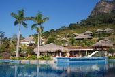 The tropical holiday hot spring resort with big swimming pool,Guangdong,China. — Stock Photo