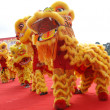 Chinese playing lion dance — Stock Photo #2537469