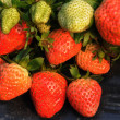 Stock Photo: Fresh luscious red strawberries
