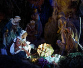 Nativity Night Scene — Stock Photo