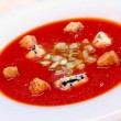 Royalty-Free Stock Photo: The Spanish cold tomato soup gazpacho