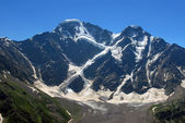 Glacier the Big seven on caucasus — Stock Photo