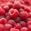 Raspberry with leaves — Stockfoto